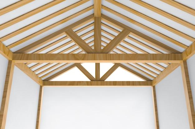 Sous construction incomplète nouveau fond de travaux de construction de maison de toit. Photo Premium