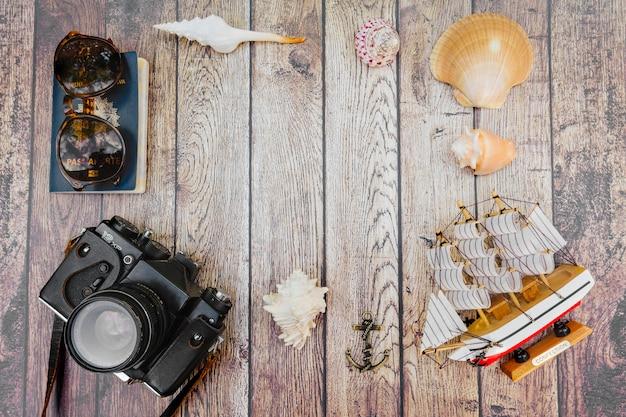 Souvenirs et documents maritimes Photo gratuit
