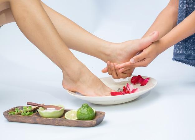 Spa et massage des pieds Photo Premium