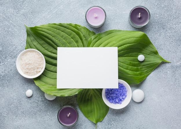 Spa nature morte avec des produits de beauté Photo gratuit