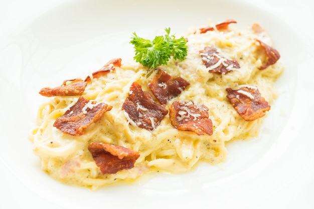 Spaghetti carbonara Photo gratuit