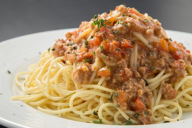 Spaghetti à la sauce Photo Premium
