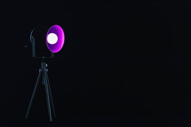 Spotlight avec ampoule magenta Photo gratuit