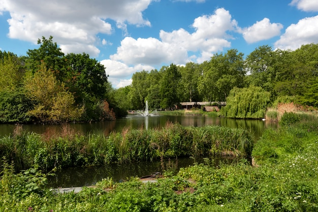 St james park est le plus ancien parc royal de westminster, dans le centre de londres en angleterre. Photo Premium