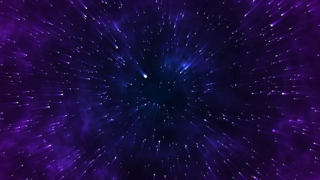 Star Volant Dans L'espace, Pour Les Films Scientifiques Photo Premium
