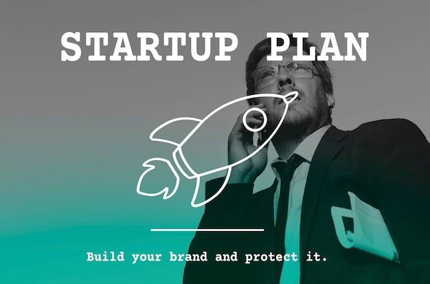 Start up business icon rocket Photo gratuit