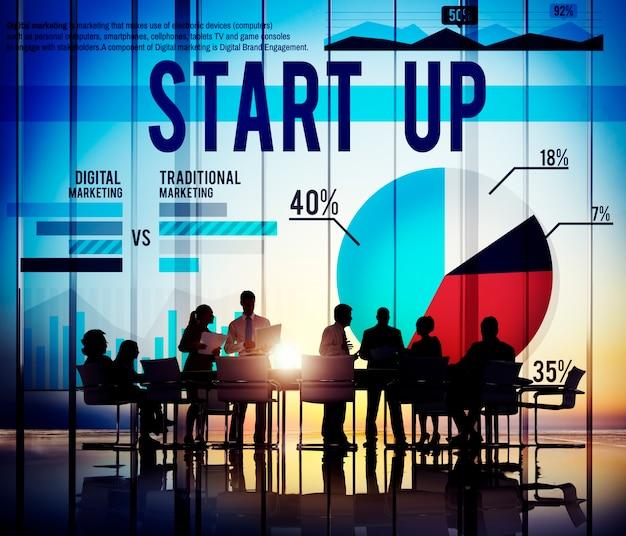 Start up business marketing concept de réussite Photo gratuit