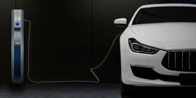 Station de recharge de voiture électrique pour la maison Photo Premium