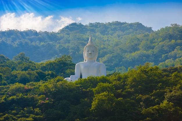 Statue de bouddha blanc Photo Premium