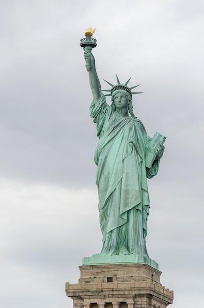 Statue de la liberté, new york city, etats-unis Photo Premium