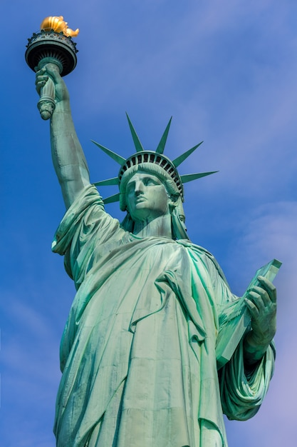 Statue de la liberté new york symbole américain usa Photo Premium