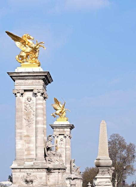 Statue de paris pont alexandre Photo Premium