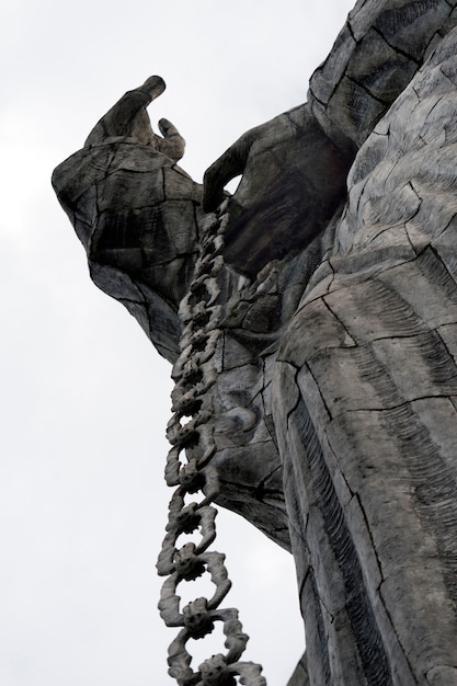 Statue De La Vierge Marie De Quito, Colline Du Panecillo, Quito, équateur Photo Premium