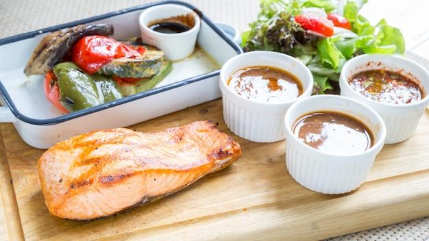 Steak de saumon Photo Premium