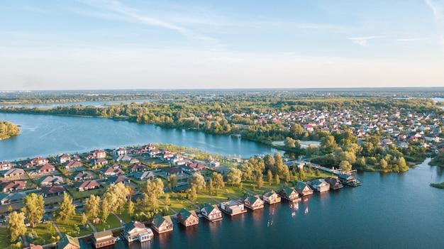 Stock image aérienne d'un quartier résidentiel Photo Premium