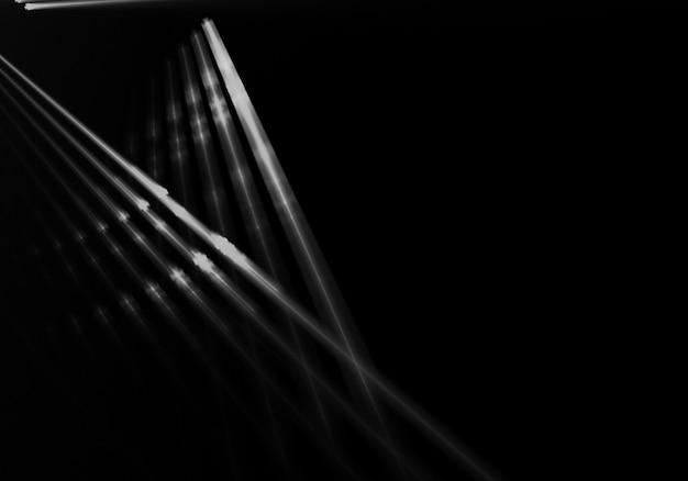 Stries de lumière en arrière-plan noir Photo gratuit