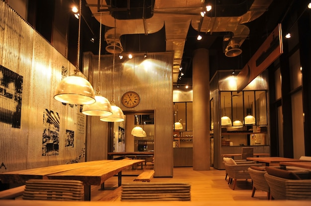 Style Bar Loft Industriel Photo Premium