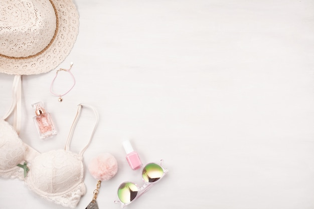 Style d'été pour filles aux couleurs pastel Photo Premium