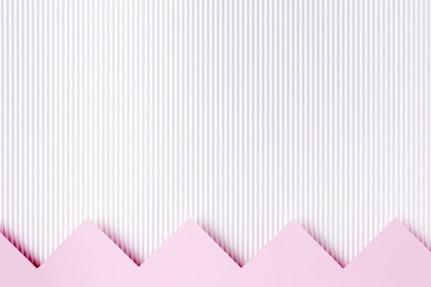 Style De Fond De Formes De Papier Rose Photo Premium