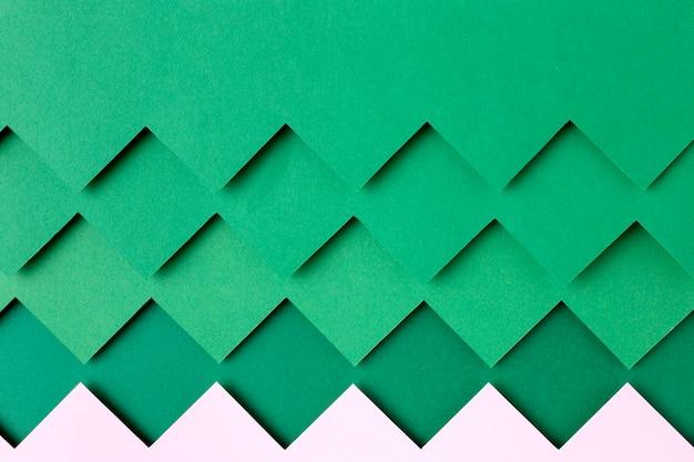 Style De Fond De Formes De Papier Vert Photo gratuit