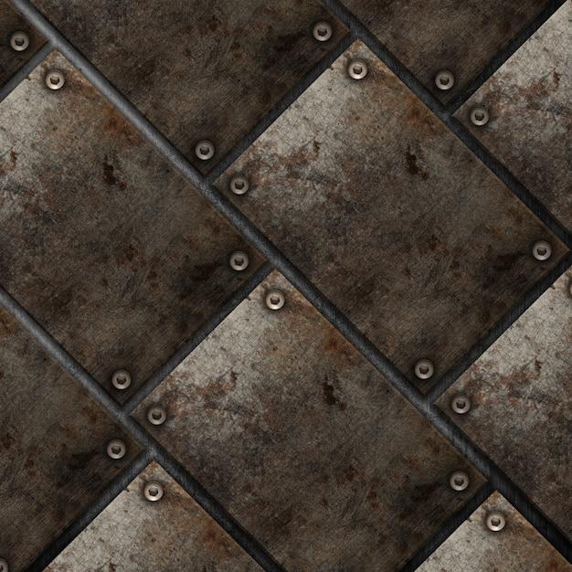 Style grunge plaque métallique fond Photo gratuit