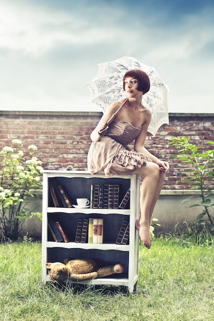 Style vintage mis en place Photo Premium