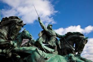 Subvention de cavalerie monument guerrier Photo gratuit