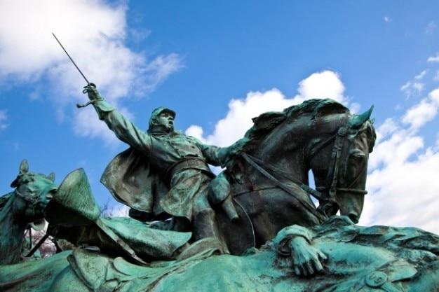 Subvention cavalerie statue Photo gratuit