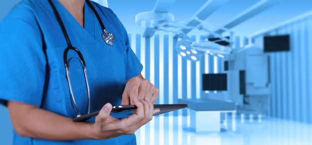 Succès médecin intelligent Photo Premium
