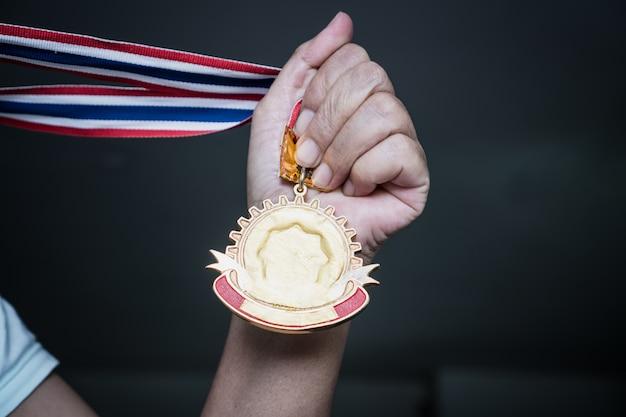 Success Awards Victory Pour Le Concept D'entreprise De Leadership Photo Premium