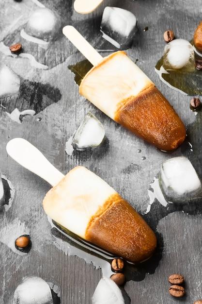 Sucettes glacées au café Photo Premium