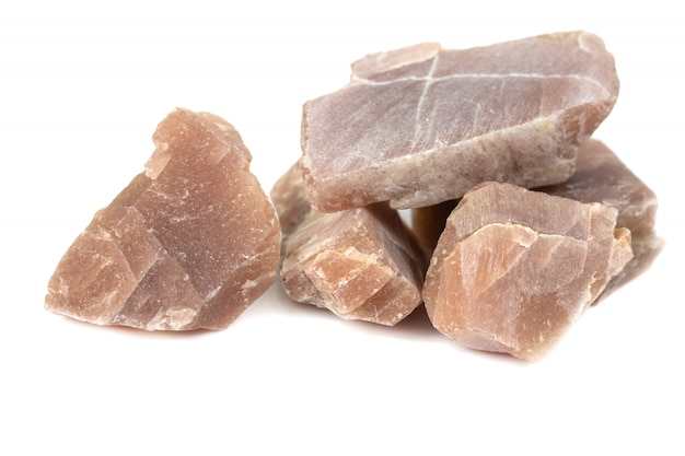 Sunstone mineral pour accessoires isolat industriel Photo Premium