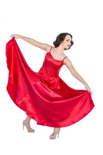 Superbe femme dansant le flamenco Photo Premium