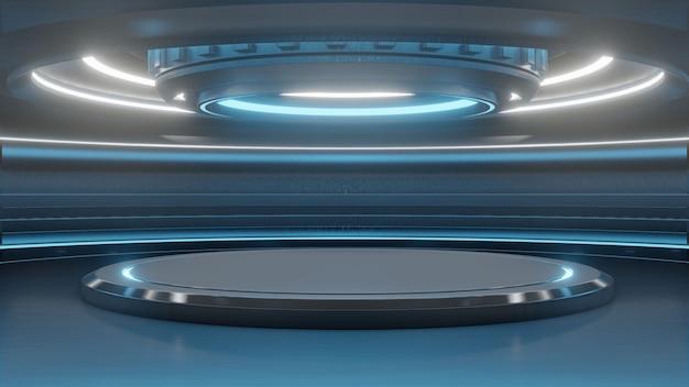 Support vide futuriste pour la technologie de fond modern future sci-fi Photo Premium