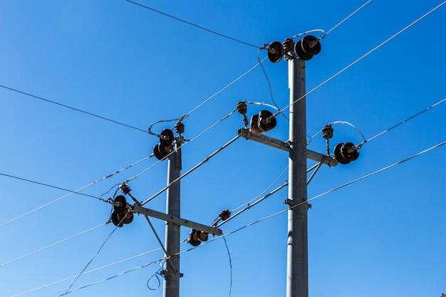 Supports de lignes électriques Photo Premium