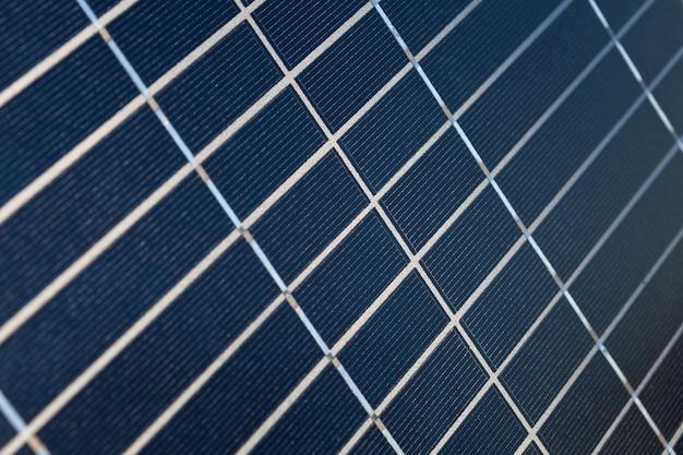 La surface du gros plan du panneau solaire Photo Premium