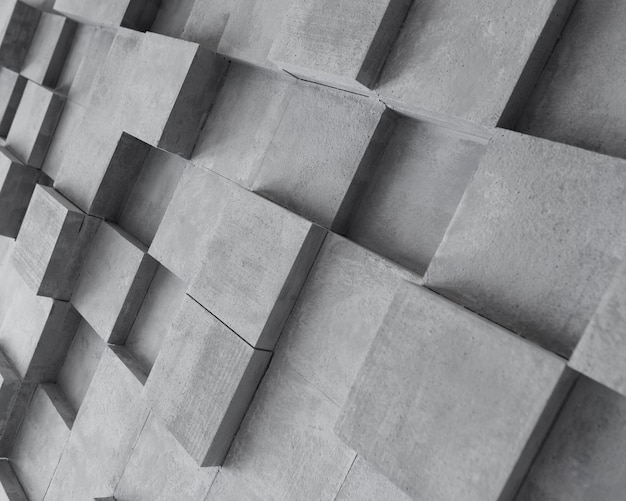 Surface grise créative avec des carrés Photo gratuit