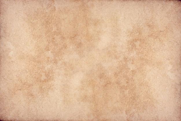 Surface De Grunge Vieux Papier Brun. Texture De Couleur Café Liquide Abstraite. Photo Premium