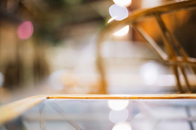 Surface de la table en verre Photo gratuit