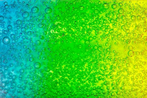 Surface Texturée Abstraite Avec Gel Bleu Et Vert Photo Premium