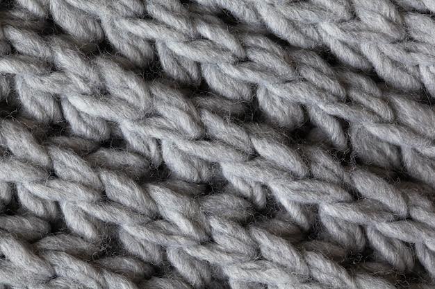 Surface Texturée En Laine Tricotée Photo Premium