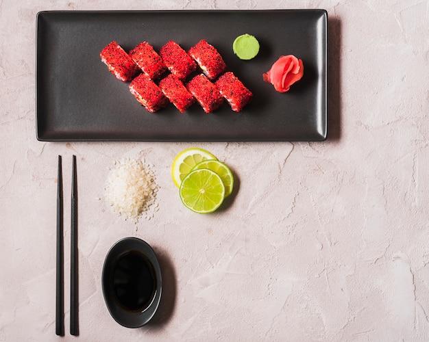 Sushi au restaurant asiatique Photo gratuit