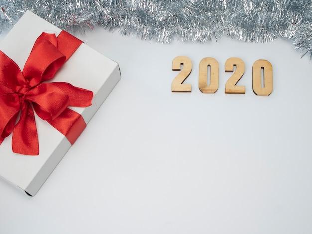 Symbole Du Numéro 2020. Nouvel An Festif Photo Premium