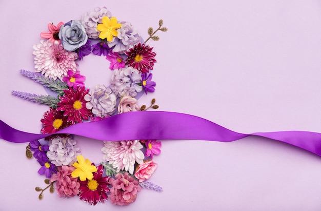 Symbole Floral Du 8 Mars Photo gratuit