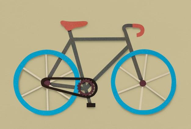 Symbole d'icône de bicyclette Photo gratuit