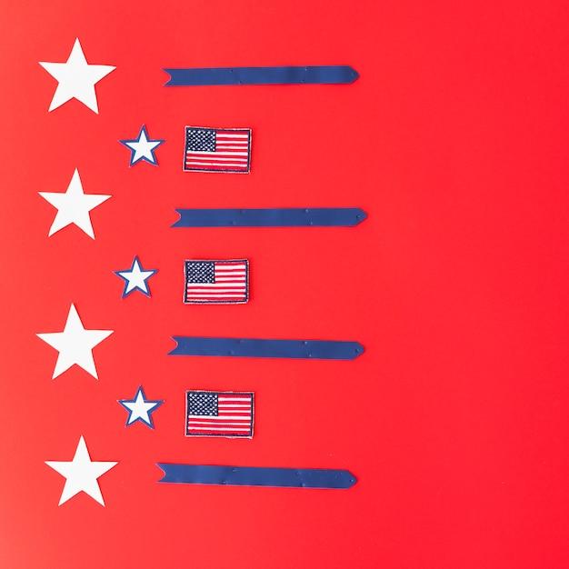 Symbolisme du drapeau américain Photo gratuit