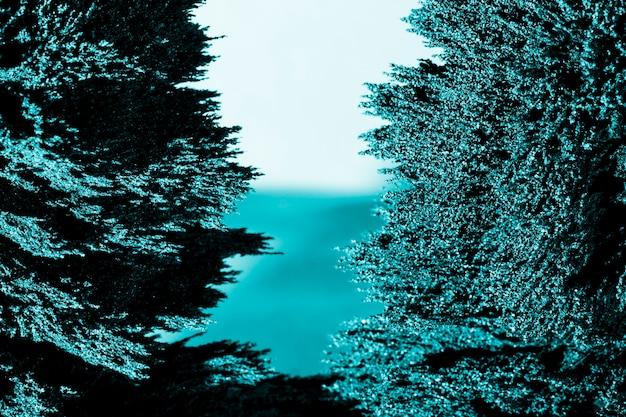 Symétrie de fond de rasage en métal magnétique bleu Photo gratuit