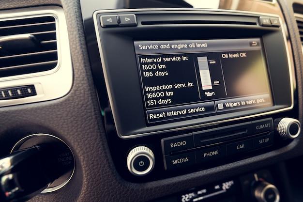 Système d'écran tactile multimédia intelligent pour automobile Photo Premium