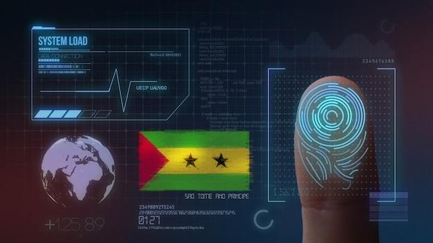Système d'identification biométrique à balayage d'empreintes digitales. são tomé et príncipe nationalité Photo Premium