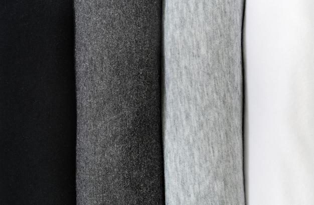 T-shirt noir, gris et blanc Photo Premium